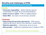 benefits and challenges of ifrs implementation