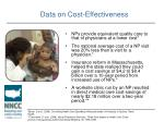 data on cost effectiveness