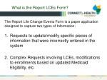 what is the report lces form