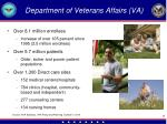department of veterans affairs va