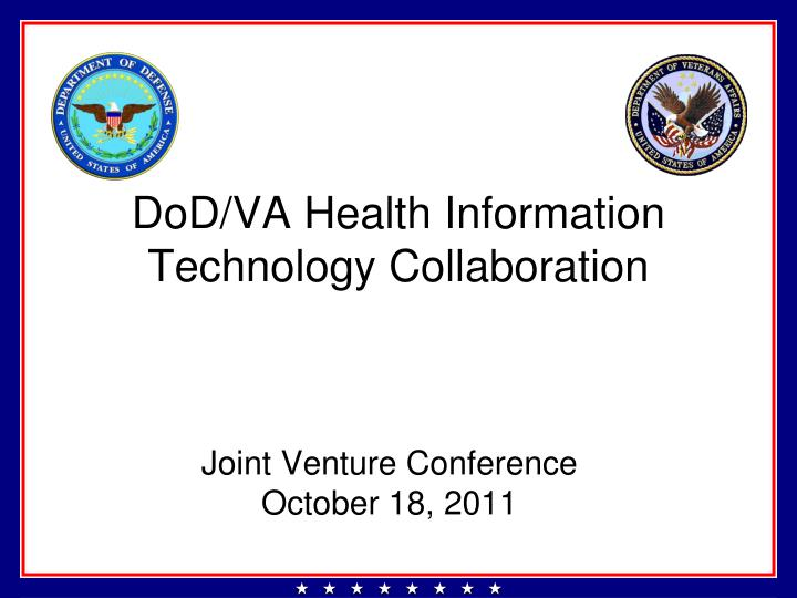 dod va health information technology collaboration n.