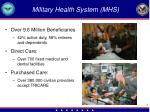 military health system mhs