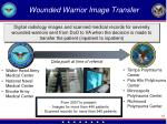 wounded warrior image transfer