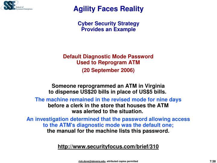 Agility Faces Reality