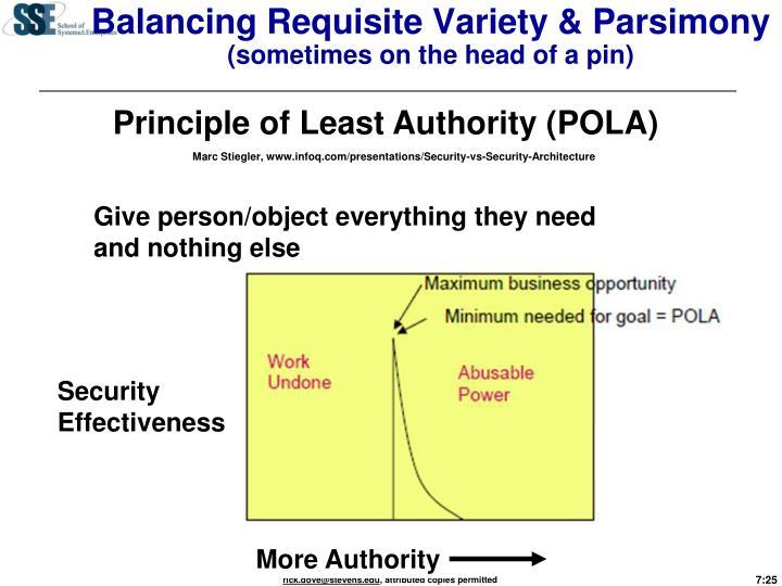 Balancing Requisite Variety & Parsimony
