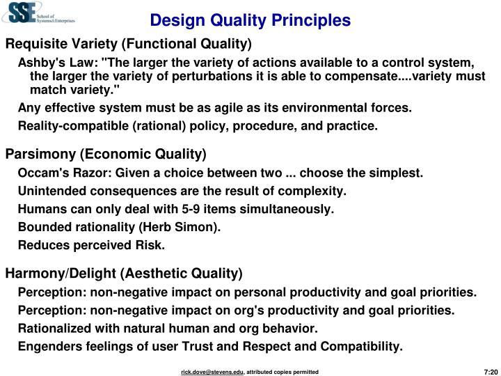 Design Quality Principles