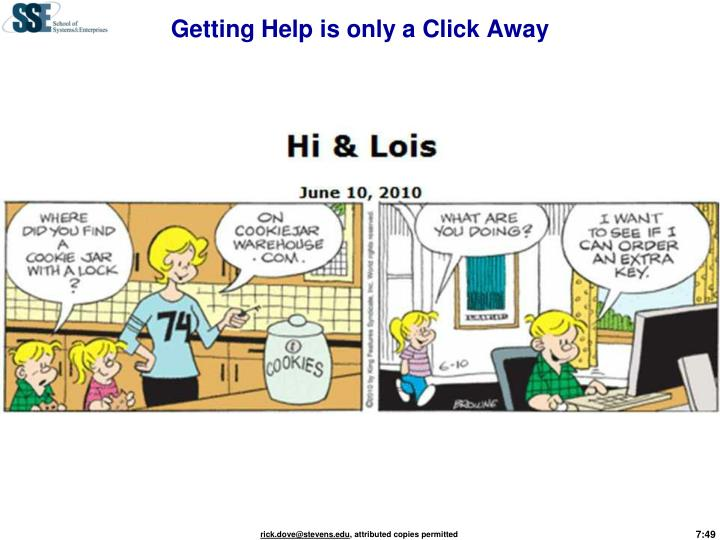 Getting Help is only a Click Away