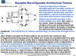 reusable reconfigurable architectural themes