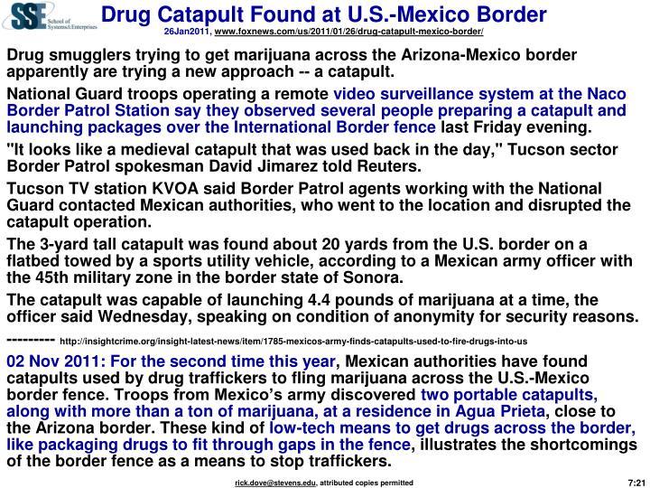 Drug Catapult Found at U.S.-Mexico Border