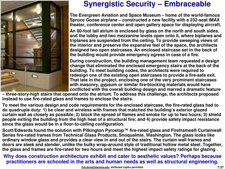 Synergistic Security – Embraceable