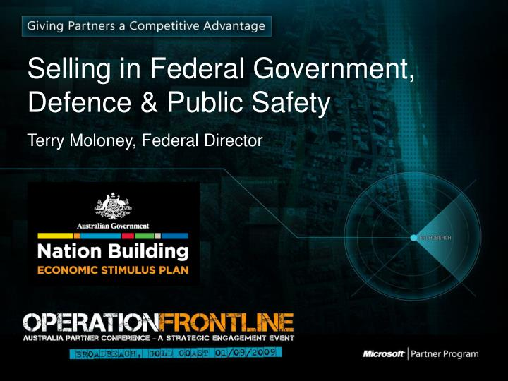 selling in federal government defence public safety n.