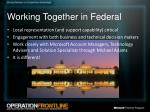working together in federal