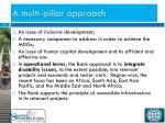 a multi pillar approach