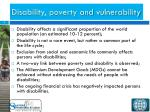 disability poverty and vulnerability