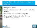 making the bank work disability inclusive challenges