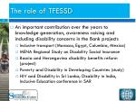 the role of tfessd