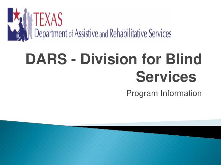 dars division for blind services n.