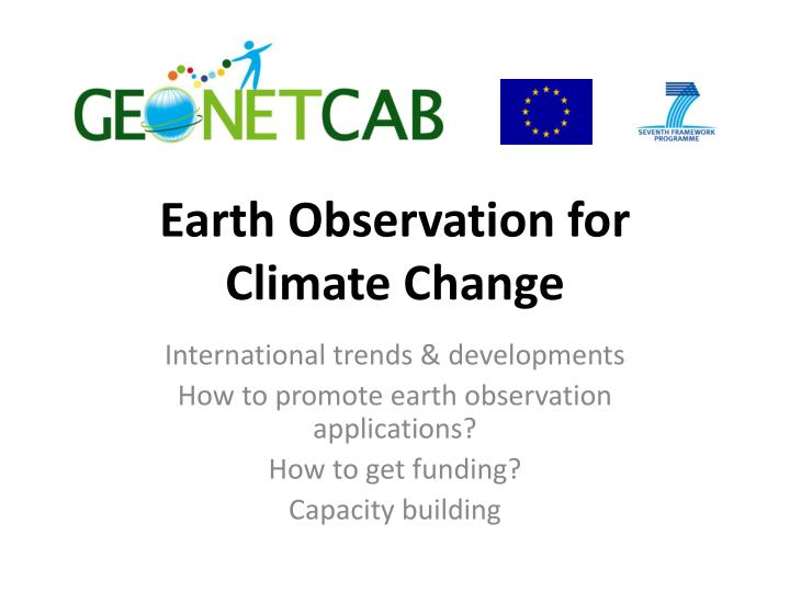 earth observation for climate change n.
