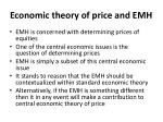 economic theory of price and emh