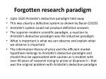 f orgotten research paradigm