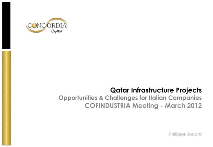qatar infrastructure projects opportunities challenges for italian companies n.