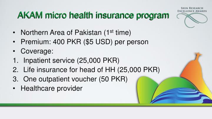 AKAM micro health insurance program