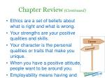 chapter review continued