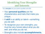 identifying your strengths and interests
