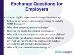 exchange questions for employers