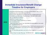 immediate insurance benefit change timeline for employers
