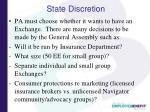 state discretion