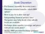 state discretion1