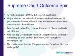 supreme court outcome spin