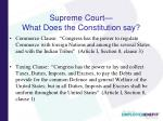 supreme court what does the constitution say