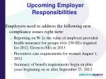 upcoming employer responsibilities