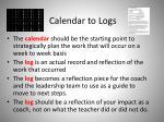 calendar to logs