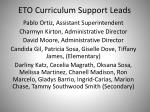 eto curriculum support leads
