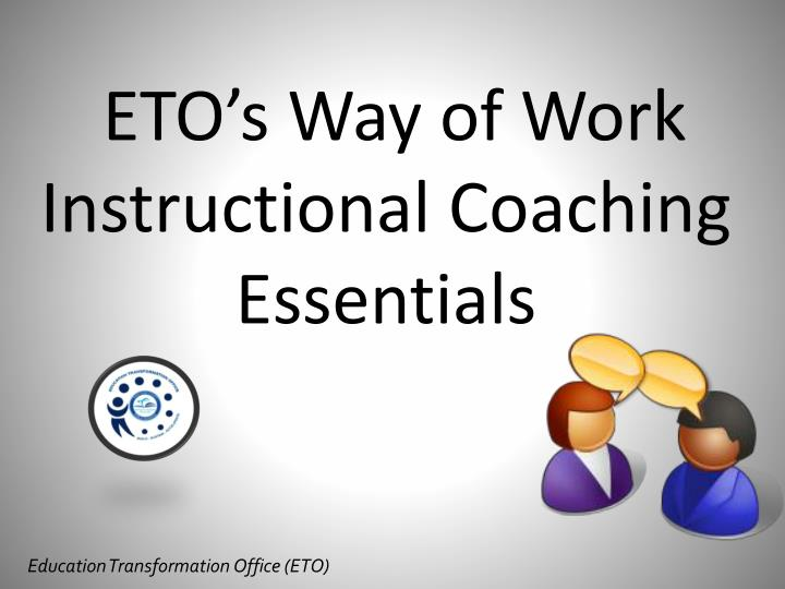 eto s way of work instructional coaching essentials n.