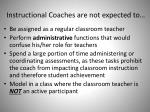 instructional coaches are not expected to
