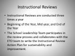 instructional reviews