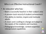 who is an effective instructional coach1
