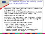 fp7 research supports the following climate change related priorities
