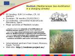 medsea mediterranean sea acidification in a changing climate
