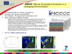 meece marine ecosystem evolution in a changing environment
