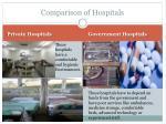 comparison of hospitals