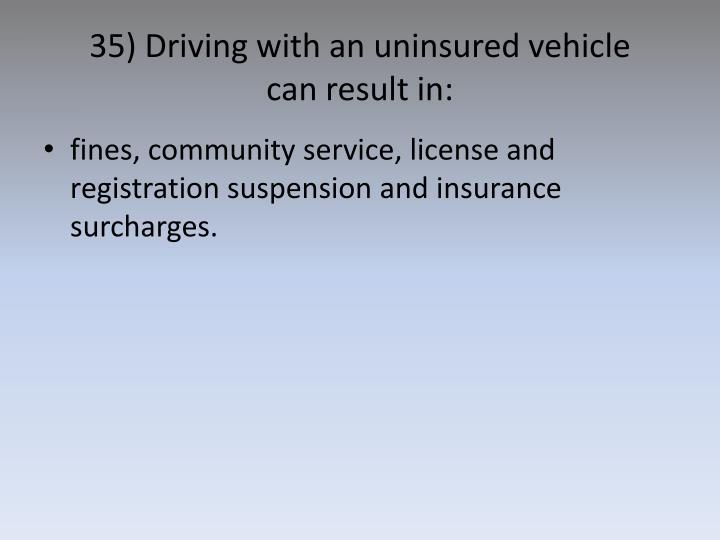 35) Driving with an uninsured