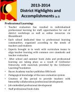2013 2014 district highlights and accomplishments p 2