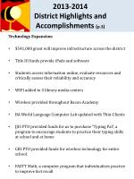 2013 2014 district highlights and accomplishments p 3