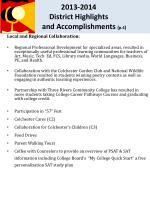 2013 2014 district highlights and accomplishments p 4