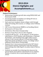 2013 2014 district highlights and accomplishments p 6